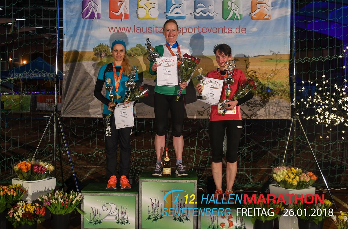 100 km Lauf beim Hallenmarathon 2018 in Senftenberg