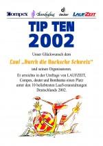 TIPTEN-Urkunde-Durch-die-Bucksche-Schweiz-Hohenbocka-2002