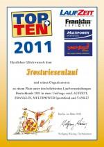 TOPTEN-Urkunde-Frostwiesen-Lauf-2011