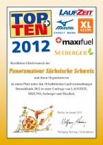 TOPTEN-Urkunde-Panoramatour-2012