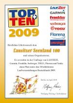 TOPTEN-Urkunde-Seenland100-2009