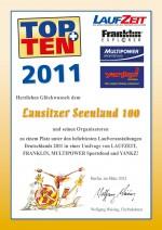 TOPTEN-Urkunde-Seenland100-2011