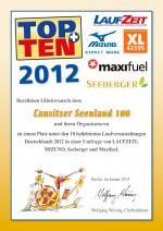 TOPTEN-Urkunde-Seenland100-2012