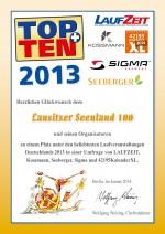 TOPTEN-Urkunde-Seenland100-2013