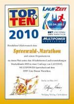 TOPTEN-Urkunde-Spreewald-Marathon-2010