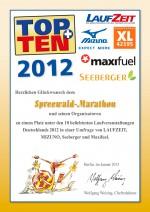 TOPTEN-Urkunde-Spreewald-Marathon-2012